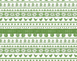 Warm Wishes - Sweater Stripe Green by Hannah Dale from Maywood Studio Fabric