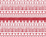 Warm Wishes - Sweater Stripe Red by Hannah Dale from Maywood Studio Fabric