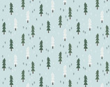 Little Red - Mini Trees Light Blue from Clothworks Fabric