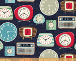 One Of A Kind - Wake Up Clocks Multi from Whistler Studios from Windham Fabrics