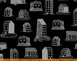 Home - Home Sweet Home Black by Virginia Kraljevic from Windham Fabrics