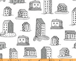 Home - Home Sweet Home White by Virginia Kraljevic from Windham Fabrics