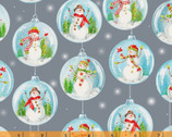 Snow Day - Snowglobes Grey by Whistler Studios from Windham Fabrics