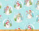 Snow Day - Snowglobes Ice Blue by Whistler Studios from Windham Fabrics