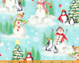 Snow Day - Snow Day Scene Ice Blue by Whistler Studios from Windham Fabrics