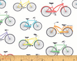 Cubby Bear FLANNEL - Bike Ride Off White by Whistler Studios from Windham Fabrics
