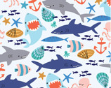 Cubby Bear FLANNEL - Sea Friends Sea Mist Blue by Whistler Studios from Windham Fabrics