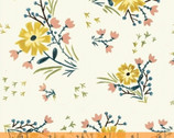 Bungalow - Large Floral Cream White by Amy Gibson from Windham Fabrics