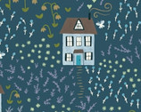 Bungalow - Little House Teal by Amy Gibson from Windham Fabrics