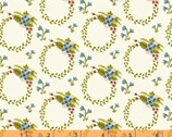 Bungalow - Wreath Cream White by Amy Gibson from Windham Fabrics