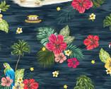 Isla - Isla Scene Ocean Dark Blue by Whistler Studios from Windham Fabrics