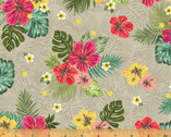 Isla - Hibiscus Freeze Taupe by Whistler Studios from Windham Fabrics