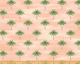 Isla - Mini Palms Coral Pink by Whistler Studios from Windham Fabrics