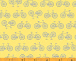 Enjoy The Ride - Tiny Bicycles Yellow by Whistler Studios from Windham Fabrics