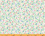 Enjoy The Ride - Ditsy Floral White by Whistler Studios from Windham Fabrics