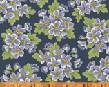 Dover FLANNEL - Packed Floral Navy Blue from Windham Fabrics