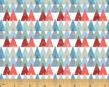 Across The USA - Triangles Multi by Whistler Studios from Windham Fabrics