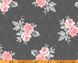 Colette - Small Rose Bouquets Charcoal by Whistler Studios from Windham Fabrics