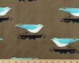Western Birds Poplin - Mountain Blue Bird by Charley Harper from Birch Fabrics