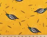 Western Birds Poplin - Mountain Quail by Charley Harper from Birch Fabrics
