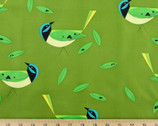 Western Birds Poplin - Blue Jay by Charley Harper from Birch Fabrics