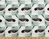 Western Birds Poplin - Spotted Towhee by Charley Harper from Birch Fabrics