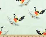 Western Birds Poplin - Western Tanager by Charley Harper from Birch Fabrics