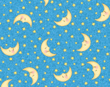 Bazooples Nursery - Sweet Dreams Stars and Moons Blue from Springs Creative Fabric