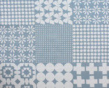 Stamped - Cheaper Print gray white by Ellen Baker from Kokka