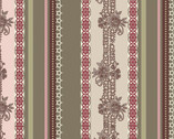 Dashing Roses - Olive Lace Ribbons from Art Gallery Fabrics
