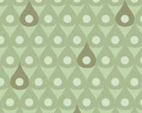 Woodland Adventures - Green Raindrops from Camelot Cottons