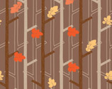 Woodland Adventures - Brown Trees from Camelot Cottons