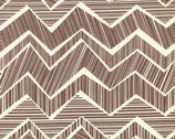 Matilda - Mocha Chevron by Alice Kennedy from Timeless Treasures