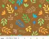 Zoofari - Leaves Brown by Doodlebug Design from Riley Blake