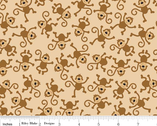 Zoofari - Monkey Brown by Doodlebug Design from Riley Blake