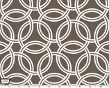 "Bekko - 55"" Home Décor Cotton Sateen - Swirl Brown from Michael Miller"