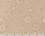 Whisper Prints - Flower taupe from Robert Kaufman