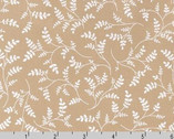 Whisper Prints - Leaf taupe from Robert Kaufman