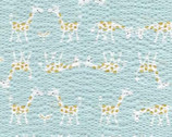 Kiyohara Giraffe Seersucker - ECB-11 Blue by Mico Ogura