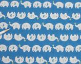 Kiyohara Elephant Seersucker - ECB-12 White/Blue by Mico Ogura