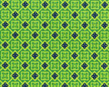 Folk Modern - Tile green by Ellen Luckett Baker from Kokka Fabrics