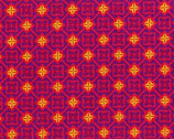 Folk Modern - Tile Azalea Red by Ellen Luckett Baker from Kokka Fabrics