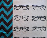 Echino Nico - Glasses Black White by Etsuko Furuya from Kokka Fabrics