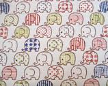 Toistaa - HA-4810-10A - Patterned Elephant Cream from Kokka Fabrics