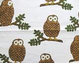 Kiyohara Owls - brown owl on white from Kiyohara