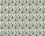 Little Things - Organic - Grey Raindrops by Arrin Turnmore from Moda