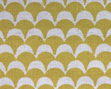 Stamped - Scallops yellow by Ellen Baker from Kokka