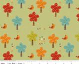 Giraffe Crossing - Trees Green by RBD Designers from Riley Blake