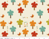 Giraffe Crossing - Trees Cream by RBD Designers from Riley Blake