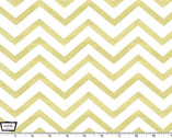 Glitz Metallic - Sleek Chevron Pearlized Gold White from Michael Miller